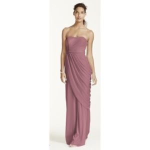 Purple Long Mesh Formal Gown Prom Bridesmaid 10